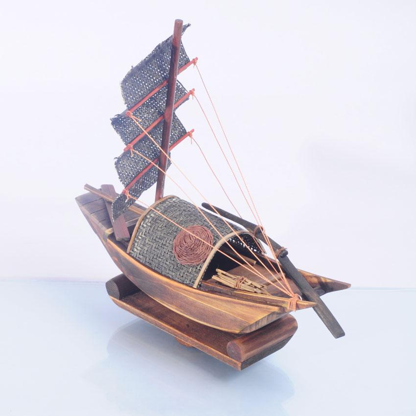 木制工艺品,木船模型