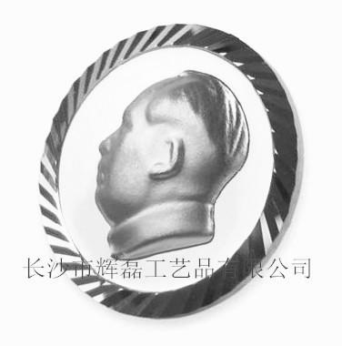 纯银毛主席像章,银毛主席像章,银像章供应