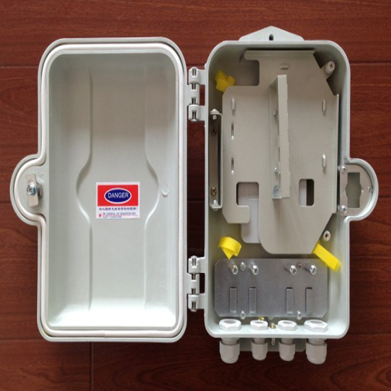 室外抱杆式二槽道SMC光纤分光分纤箱