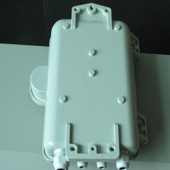 室外抱杆式二槽道SMC光纤分配箱