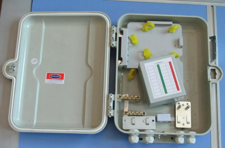室外抱杆式二槽道SMC光缆分支箱