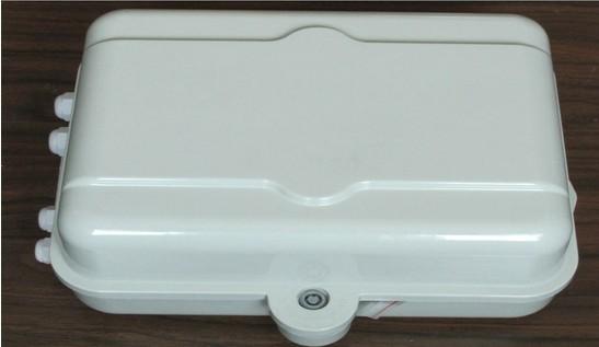 室外抱杆式二槽道SMC光分路器箱