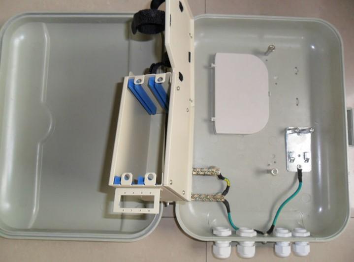 室外抱杆式二槽道SMC二级分光箱