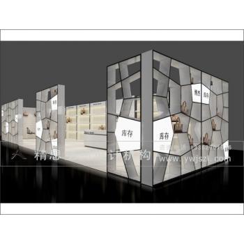 衢州龙游绍兴展示柜展厅设计烤漆柜制作