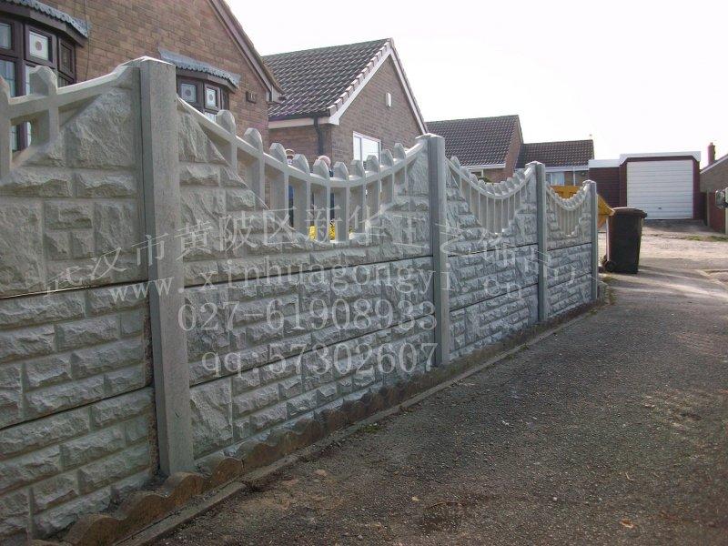 现代风格通透式围墙设计cad施