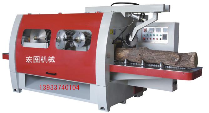 新型木工多片锯 全封闭木轴锯 木芯锯 建筑模板拼接机
