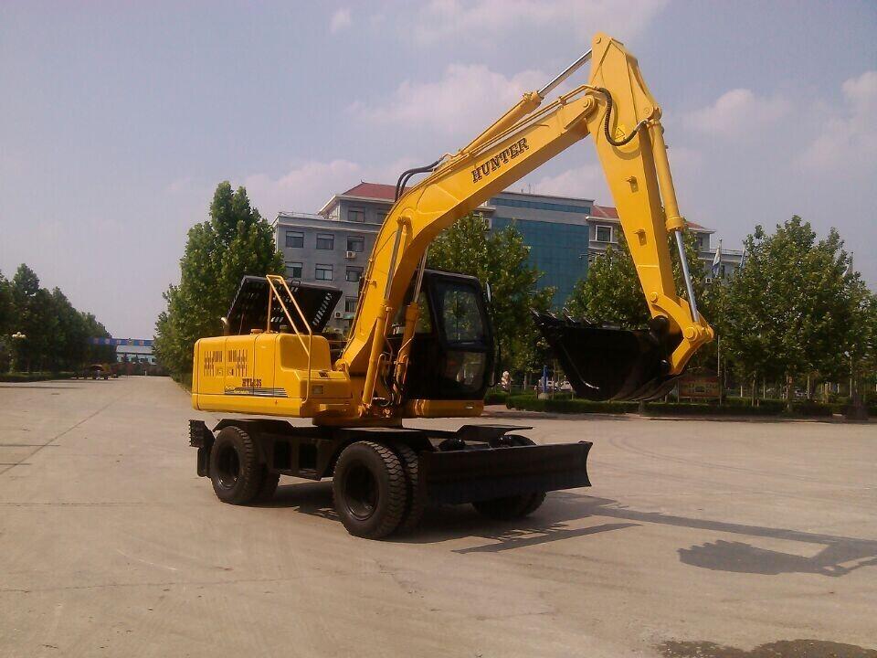 广州厂价恒特进口轮式全液压150挖掘机