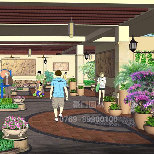 东莞楼顶景观,阳台花园设计,园林假山景观