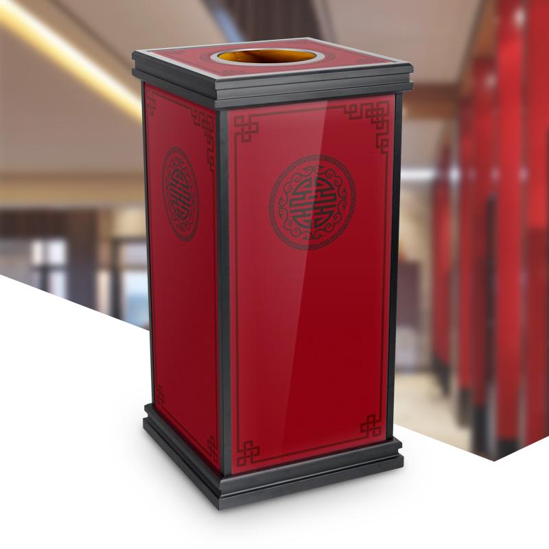 酒店座地立式室内垃圾桶新款大容量果皮箱