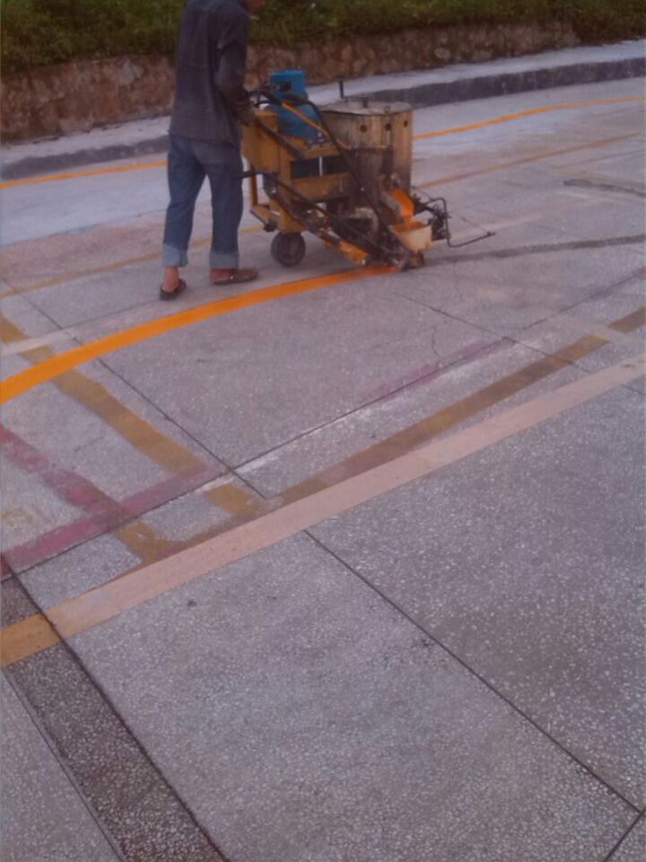 广州划线施工、车位、小区通道线-中路达