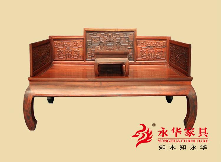 广东红木家具品牌古典罗汉床红木大床