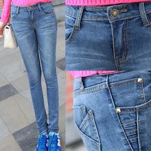 铅笔裤女式牛仔裤长裤厂家低价批发潮
