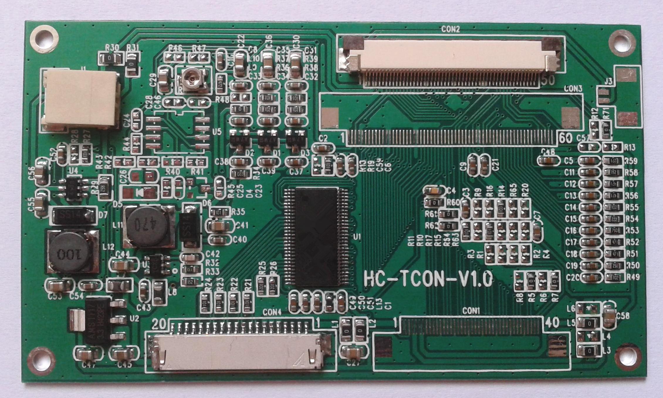 产品信息 1,主题功能:把单6位LVDS信号转换成单50P屏接口的18位TTL信号; 2,适用屏种类:兼容AT070TN92/AT070TN94/AT080TN52/EJ080NA-05A等规格相同的7寸8寸数字液晶屏; 3,电源:5V、3.3V可选(建议客户用5V); 4,板子自带LCD背光驱动,AVDD,VGH,VGL电路和背光控制接口; 5,若该板不能满足需求,可以根据客户的要求修改。 产品特点 该产品是一款功能全面,性能稳定,运用广泛,安装方便的数字液晶屏驱动板。 产品广泛应用于:车载,安防,仪器