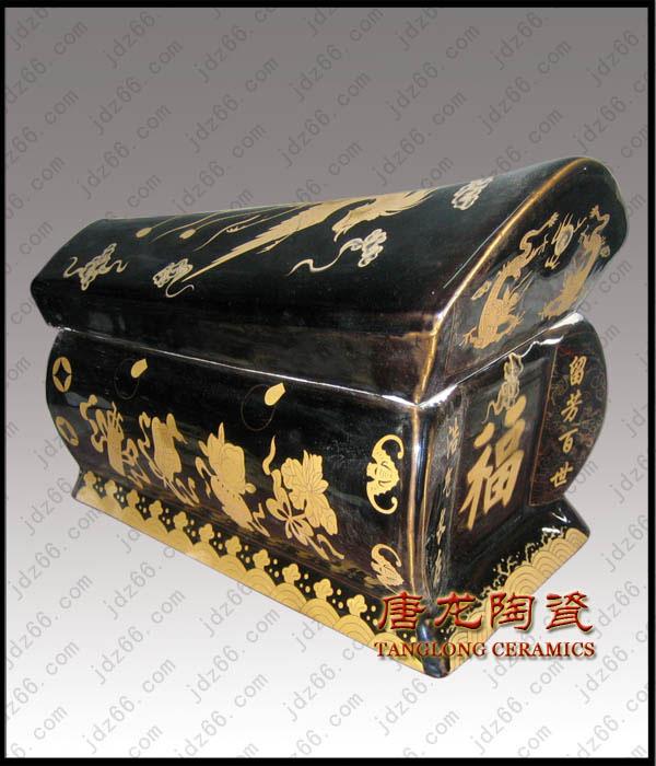 供应青花瓷骨灰盒陶瓷骨灰盒厂家