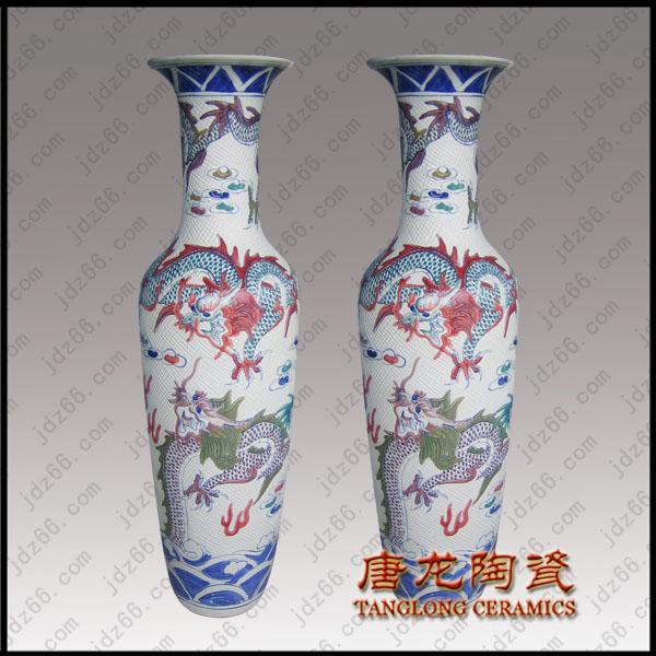 精美景德镇陶瓷大花瓶专业设计与定做