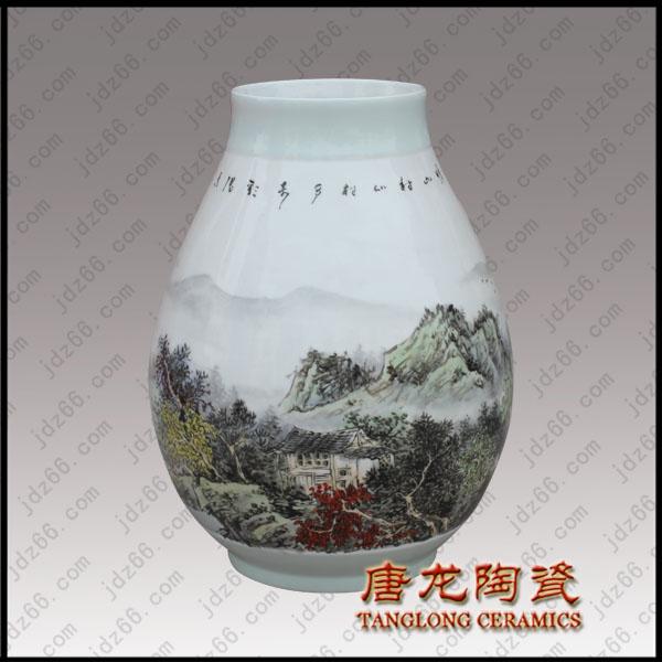 景德镇名家手绘花瓶高档收藏礼品