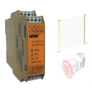lntech安全繼電器,安全光幕控制器