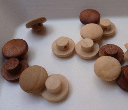 原木色木头蘑菇扣,高脚木扣