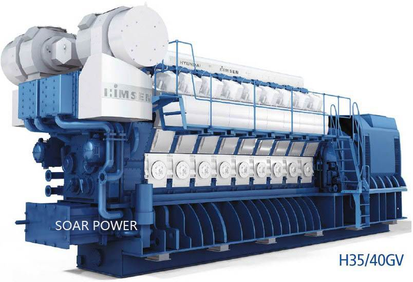 供应现代燃气发电机组(2.7MW~25MW)