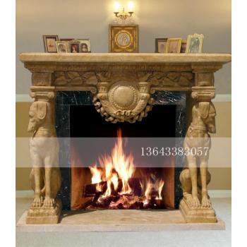 大理石壁炉 欧式壁炉装饰客厅 石雕壁炉架458