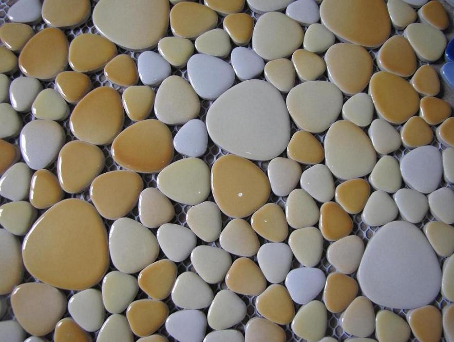 马赛克鹅卵石自由石异形心形海洋之心小脚丫