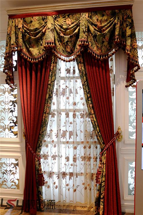 靓纱源厂家直销欧式风格 亚麻材质客厅窗帘