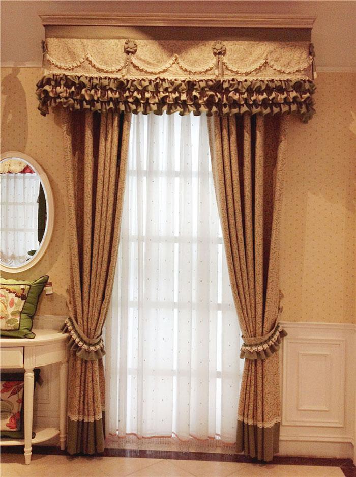 四川靓纱源英伦风格遮光面料卧室窗帘布艺