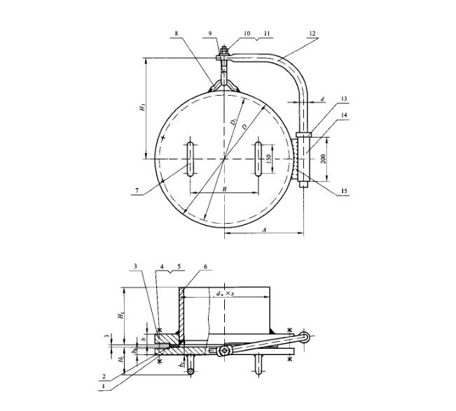 HG/T21519-2014垂直吊盖板式平焊法兰人孔