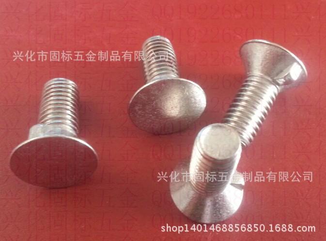 【优质供应】不锈钢沉头带榫螺栓 非标定做