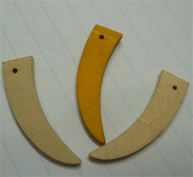 弯曲木牛角扣,象牙扣