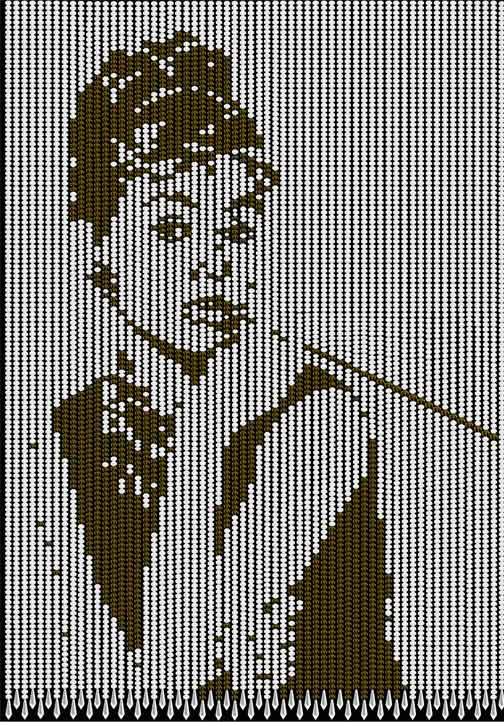 水晶珠帘赫本图案珠帘艺术珠帘门帘定制珠帘