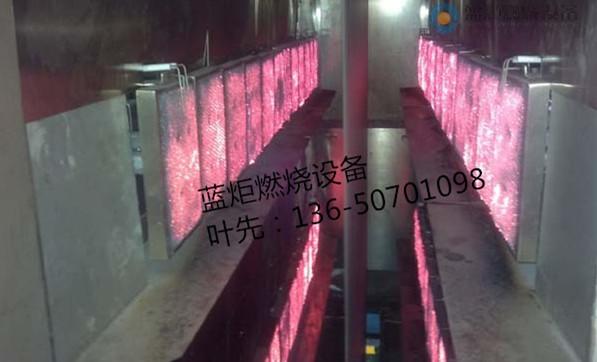 纺织印染后整理天然气红外线预烘打底设备