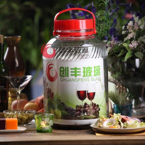 斜纹梅酒瓶无铅泡酒瓶酵素泡菜瓶