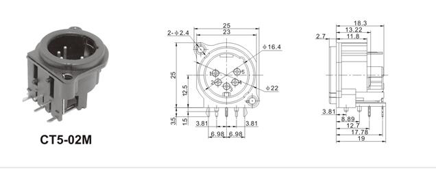 65话筒头插座接线图