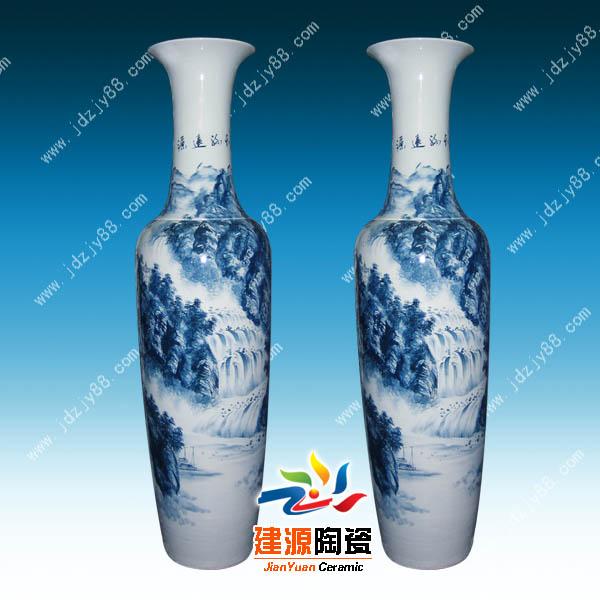 商务馈赠礼品大花瓶落地陶瓷花瓶厂家