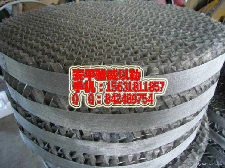 304/316L不锈钢丝网波纹填料网