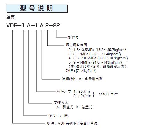 NACHI不二越叶片泵VDR-1A-1A5-22VDR-1B-2A2-22