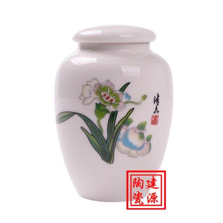一斤陶瓷罐子定做价格,陶瓷药罐批发厂家