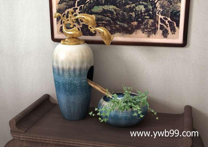 欧式主题酒店客房装饰摆件|古典风格高档客厅花瓶