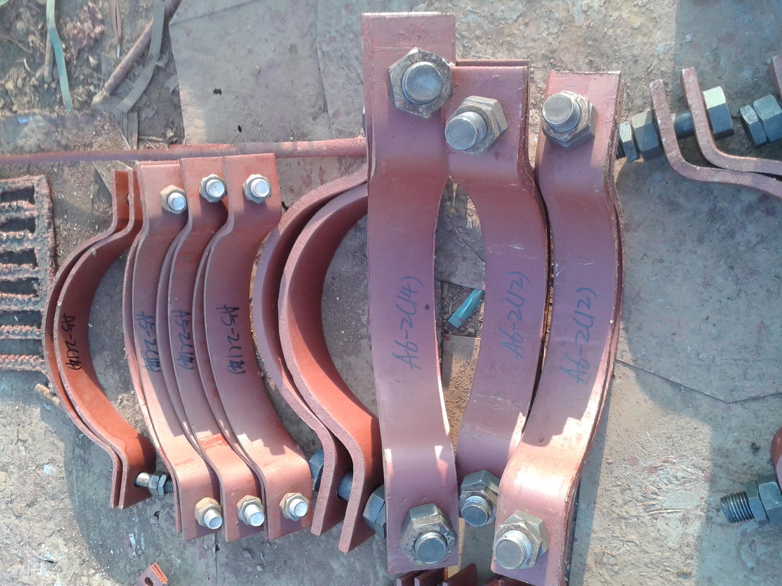 重型双螺栓管夹DN25-DN600-沧州孟村加工厂