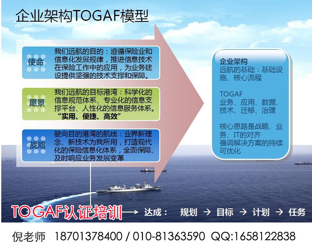 北京哪里可以学TOGAF或企业架构?