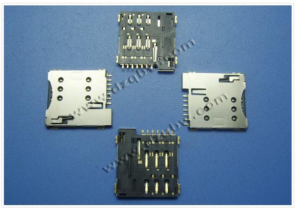 micro sim push 6+1_卡座_连接器_电子元器件_供应_通