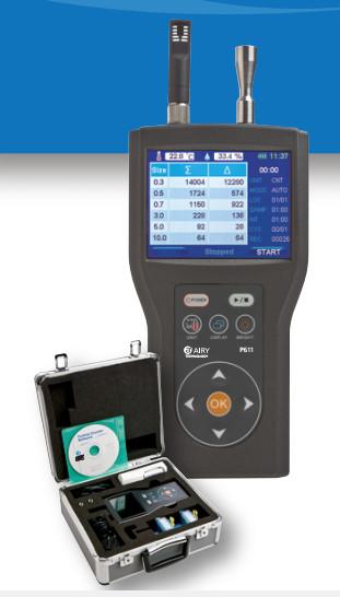 美国airy611手持式粉尘计数器PM0.3~10