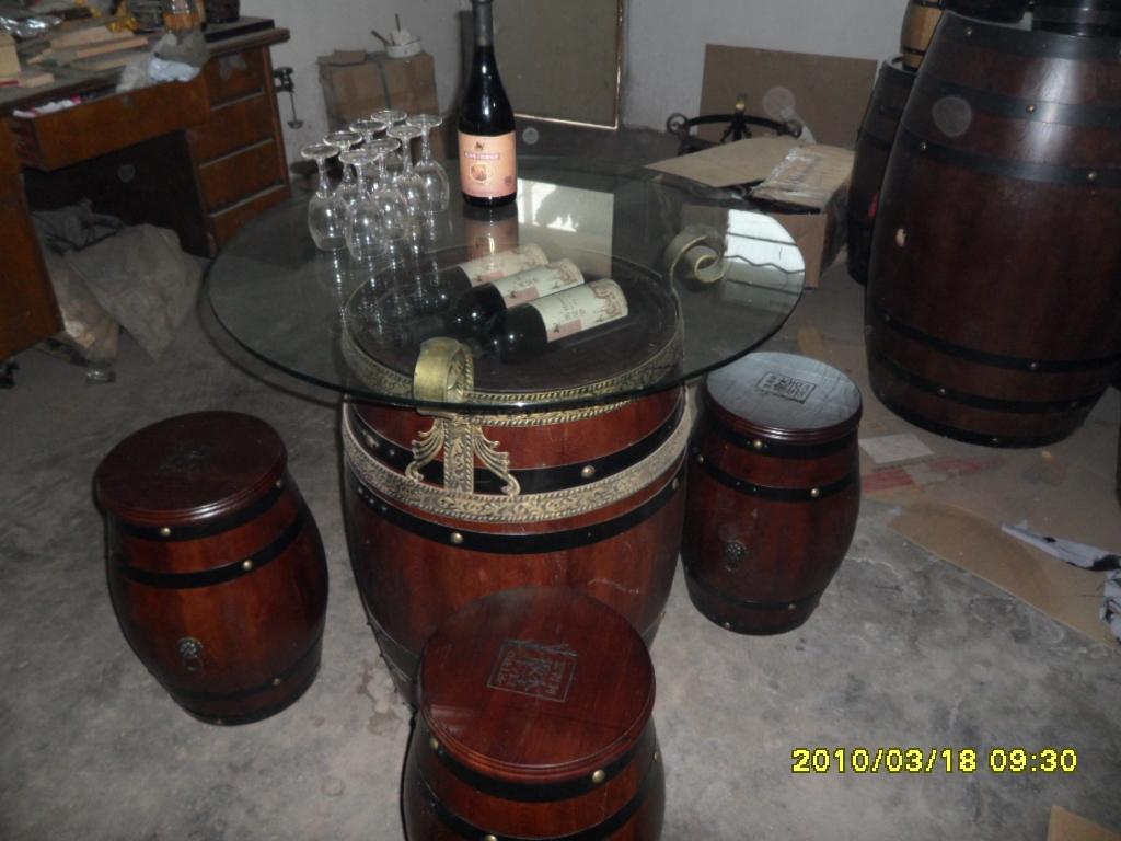 橡木桶休闲桌凳
