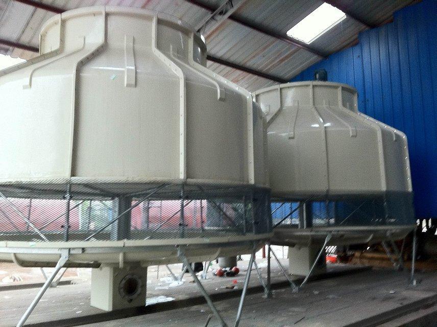 厂家直销湖北十堰500T逆流圆型工业冷却塔