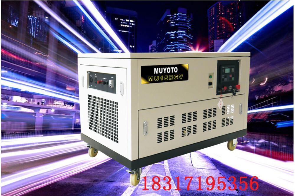 15KW永磁静音汽油发电机组