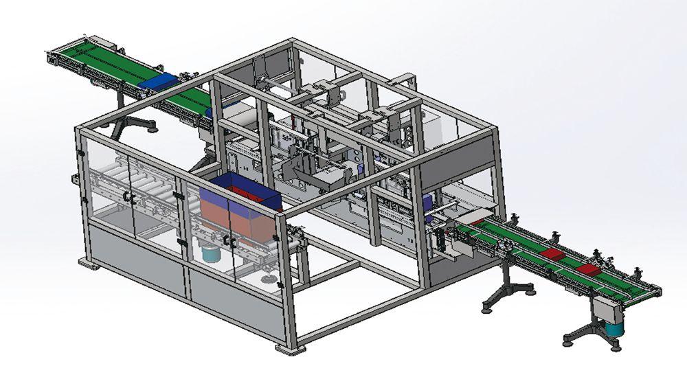 河北博柯莱供应自动盒自动装箱-侧推式装箱