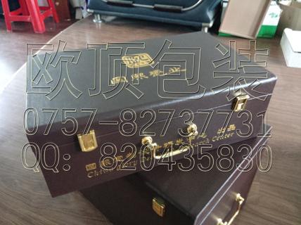 咖啡色高档石英石样品包装盒