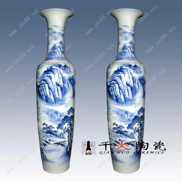 青花陶瓷大花瓶批发门店摆设大花瓶