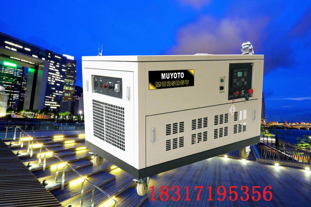 25KW永磁静音汽油发电机组